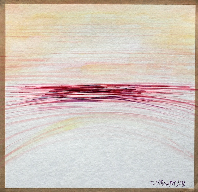 Abstract watercolur paintings with lines