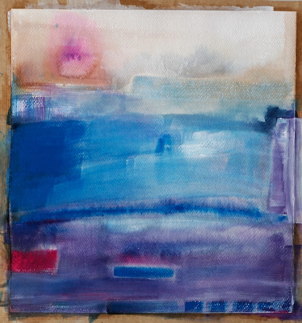 contemporary watercolor abstract painting