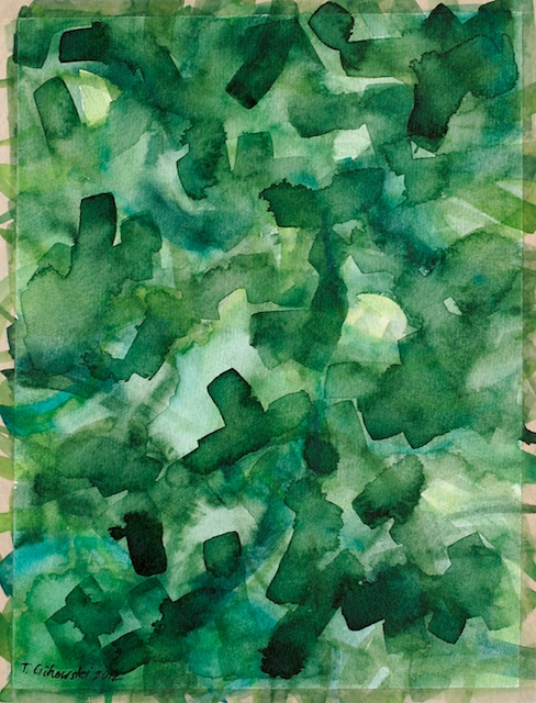 contemporary watercolor abstract paintings