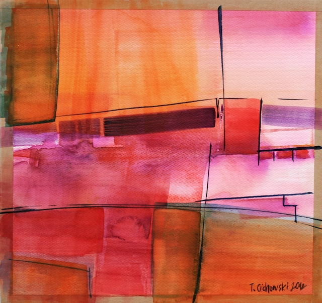 abstract painting watercolor contemporary art