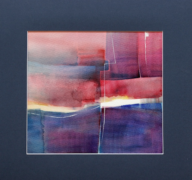 contemporary art abstract watercolors