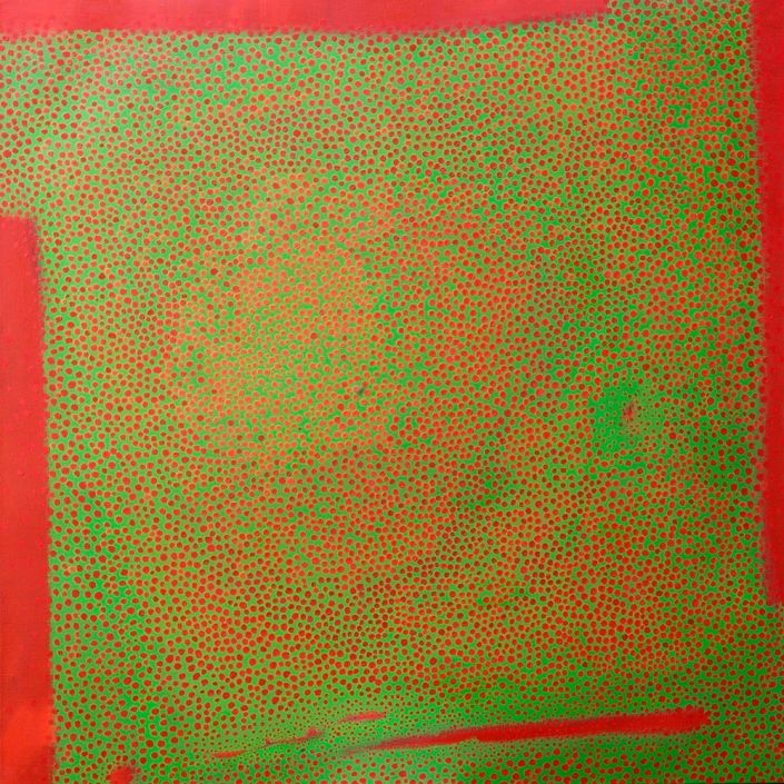 contemporary square abstract painting