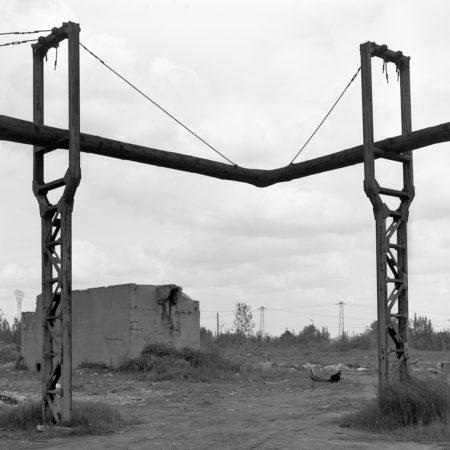 black white photography - post industrial