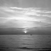 black and white sea photography