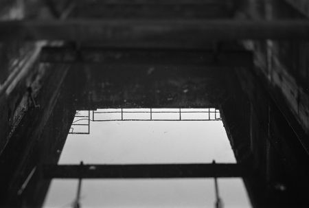 post industrial black and white photography