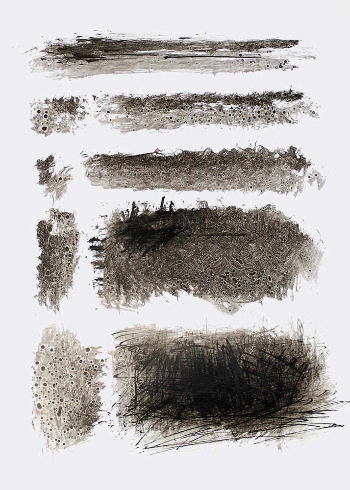 modern abstract drawing minimalist