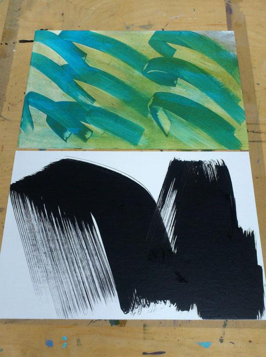 Abstract artist studio