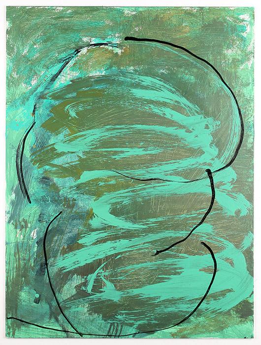 abstract art green circles