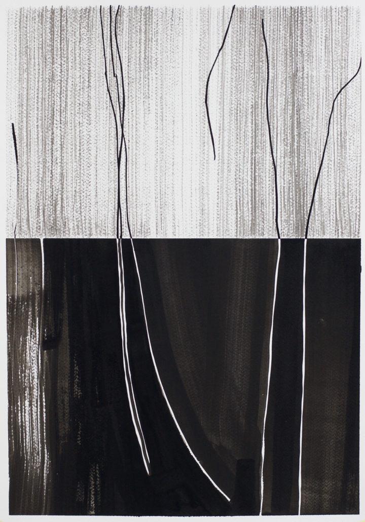 Black modern abstract drawing