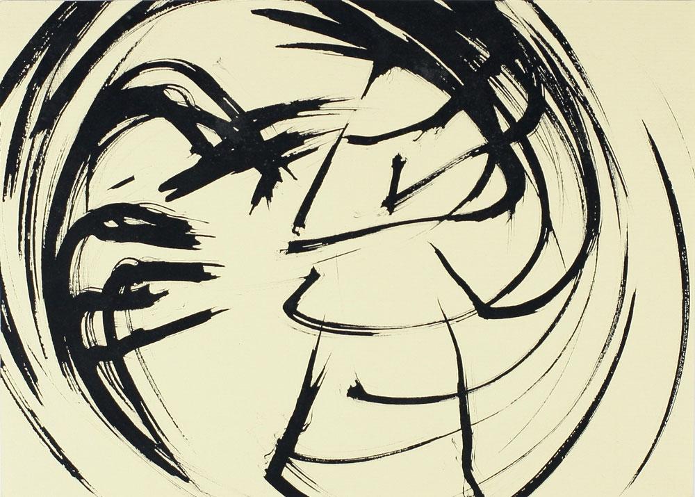 Small original abstract drawing