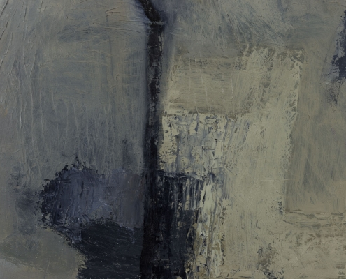 abstract painting on panel